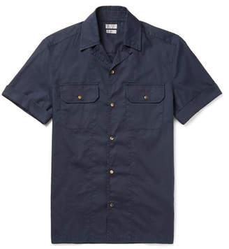 Brunello Cucinelli Slim-Fit Camp-Collar Cotton Western Shirt