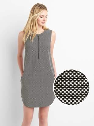 Gap Zip front shift dress