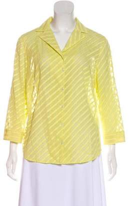 Akris Striped Button-Up Top