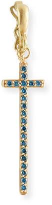 Dominique Cohen 18k Blue Diamond Cross Enhancer