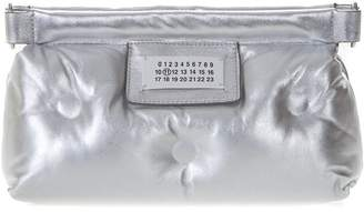 Maison Margiela Silver Red Carpet Glam Slam Bag In Quilted Leather