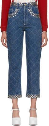 Gucci Blue Crystal Pocket Jeans