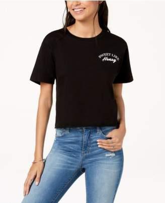 Rebellious One Juniors' Sweet Like Honey Graphic T-Shirt