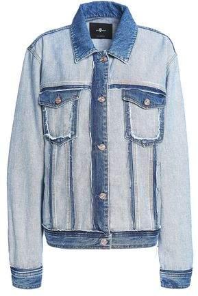 Paneled Two-Tone Denim Jacket