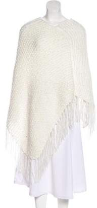 Indah Open Knit Mohair Poncho