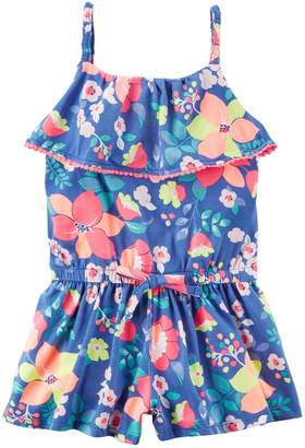 "Carter's Toddler Girl Smile"" Rainbow Top & Rain Cloud Pattern Skeggings Set"