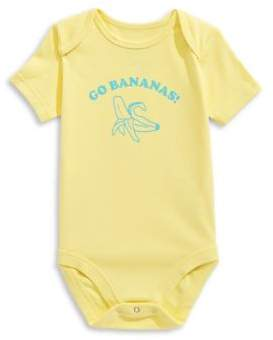 The Birdie Collection Baby Boy's Go Bananas Cotton Bodysuit