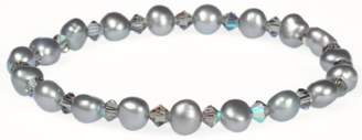 Swarovski Freshwater Cultured Pearl with Crystallized Elements Stretch Bracelet