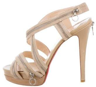 Christian Louboutin Suede Platform Sandals