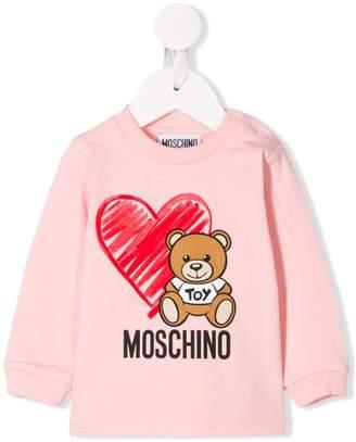 Moschino Kids teddy print sweater