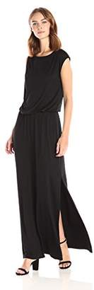 Three Dots Women's Refined Jersey Goddess Maxi