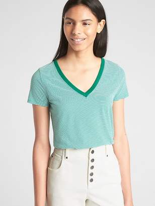 Gap Stripe Vintage V-Neck T-Shirt
