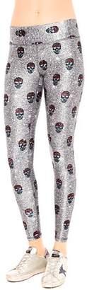 Terez Tall Glitter Skull Leggings