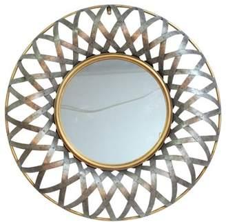 A&B Home Metal Wall Mirror