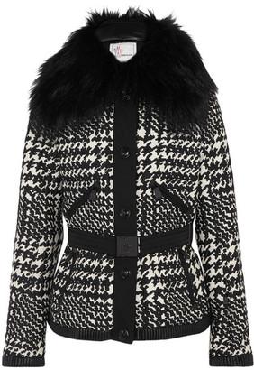 Moncler Grenoble - Mongie Shearling-trimmed Jacquard Down Ski Jacket - Black $3,030 thestylecure.com