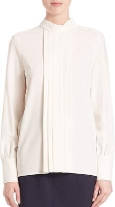 SET Women's Pleated Mockneck Blouse