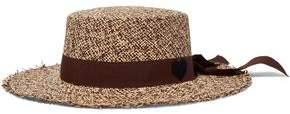 Sensi Studio Bow-Embellished Toquilla Straw Hat