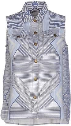 Mary Katrantzou CURRENT/ELLIOTT + Denim shirts