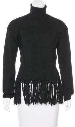 Jean Paul Gaultier Fringe-Trimmed Wool Sweater