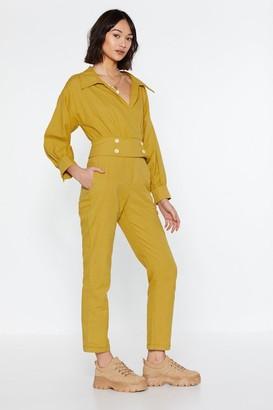 Nasty Gal Under Wraps Button Jumpsuit