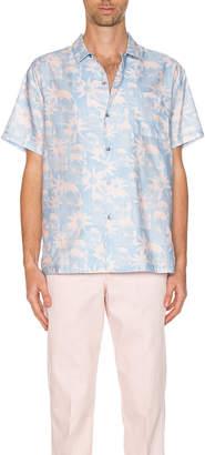 Double Rainbouu DOUBLE RAINBOUU Hawaiian Shirt in Paradise City Pink | FWRD