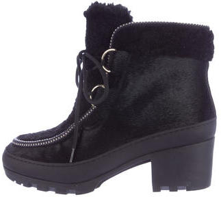Tory BurchTory Burch Ponyhair Lace-Up Ankle Boots