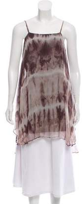 Alice + Olivia Silk Sleeveless Tunic Top