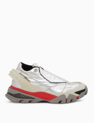 Calvin Klein metallic covered lace-up athletic sneaker