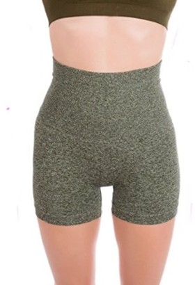 ±0 0 Higi Quality Comfortable Women Fitness Running Yoga Shorts Sports Mini Shorts - MEDIUM H.OLIVE
