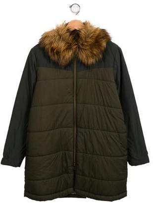 Bellerose Kids Girls' Long Puffer Coat