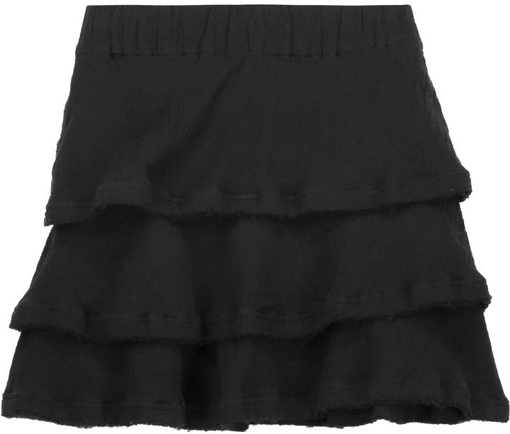IRO IRO Zinnia tiered cotton mini skirt