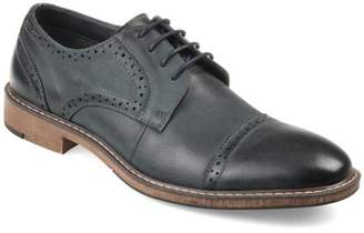 Territory Mens Genuine Leather Lace-up Cap-toe Brogue Dress Shoes