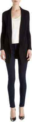 Barneys New York Ribbed Sleeves Cardigan