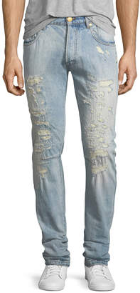 Pierre Balmain Super-Distressed Slim Jeans