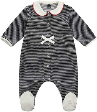 Petit Bateau Striped Sailor Collar All-In-One