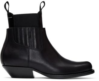 MM6 MAISON MARGIELA Black Cut-Out Double Chelsea Boots