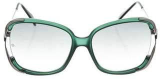 Giorgio Armani Oversize Gradient Sunglasses