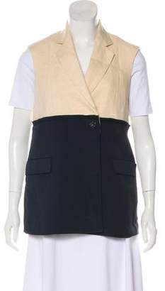 United Bamboo Two-Tone Linen Vest