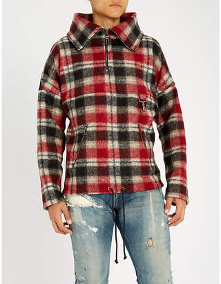 REESE COOPER Checked wool-blend jacket