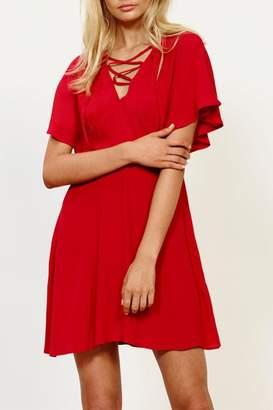 MinkPink Lace Up Dress