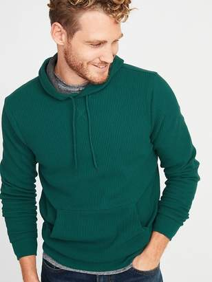 Old Navy Chunky Thermal-Knit Pullover Hoodie for Men