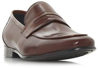 Dune Brown 'Paw' Perforated Penny Saddle Loafers