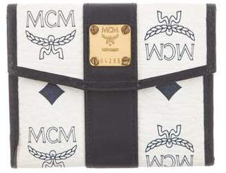 MCM Visetos Compact Wallet