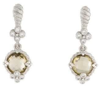 Judith Ripka Quartz Drop Earrings