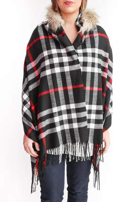 Wish Collection Hooded Black Poncho