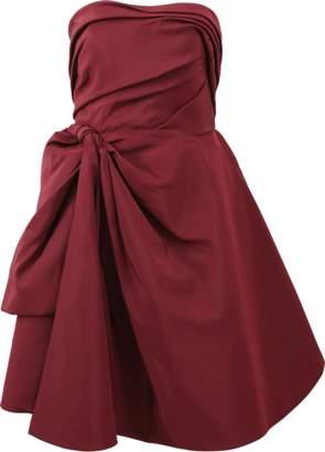 Oscar de la Renta Strapless Cocktail Dress