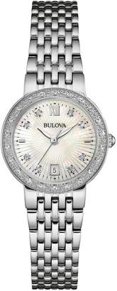 Bulova Women's Diamond Detail Bracelet Watch, 26mm - 0.14 ctw