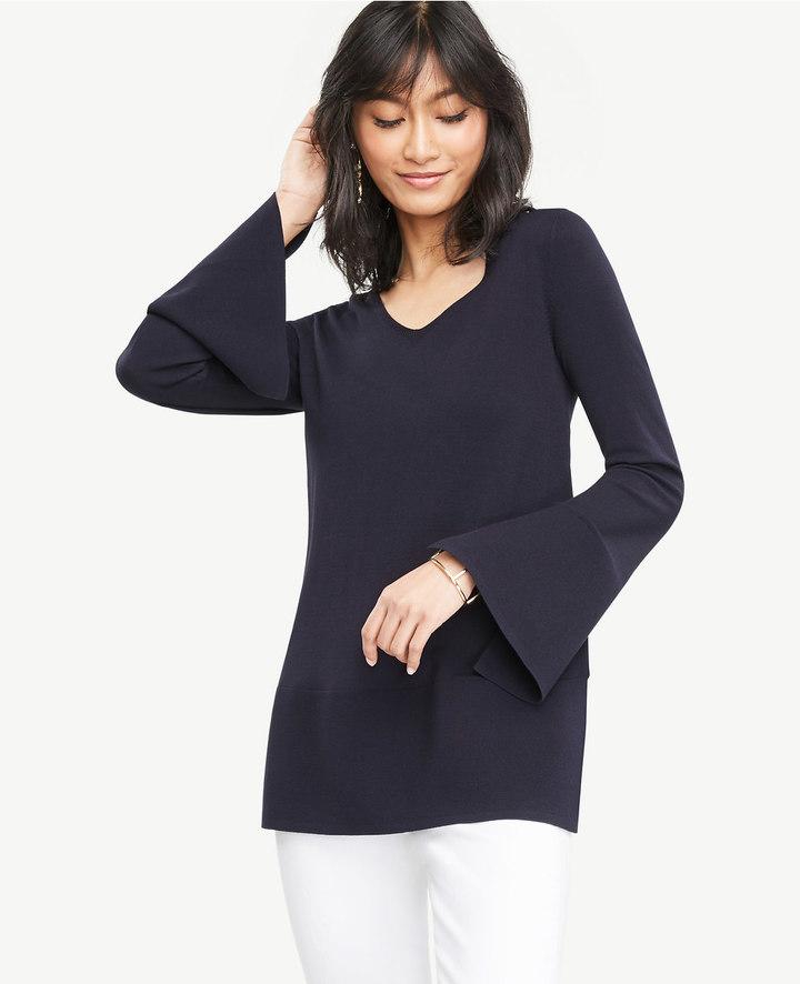 Ann TaylorSlit Bell Sleeve Tunic