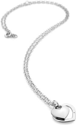 Hot Diamonds Accents By Accents by Sterling Silver Double Heart Pendant