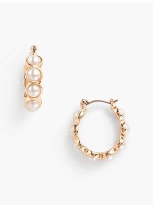 Talbots Pearl Hoop Earrings